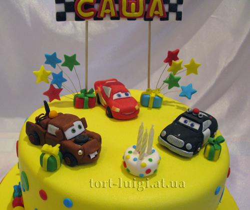 Макквин метр и шериф детские торты